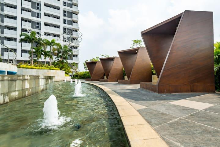 Super Cozy Clean Studio Puri Mall, Wifi+Netflix
