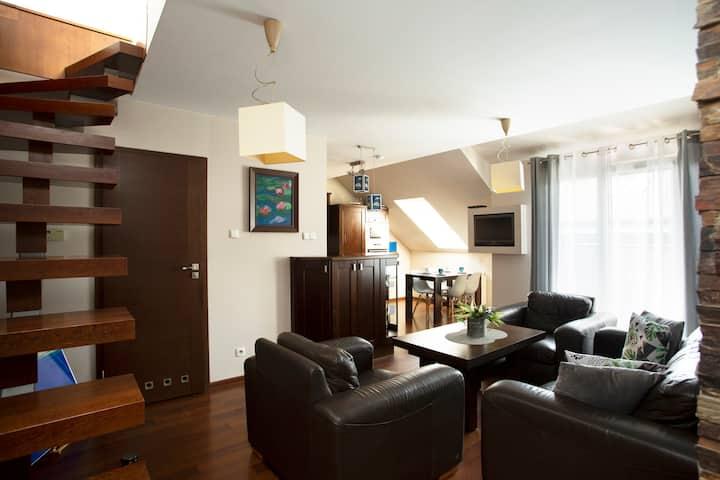"""Apartament """"Poddasze Artysty"""" Mieszkanie Ozonowane"""