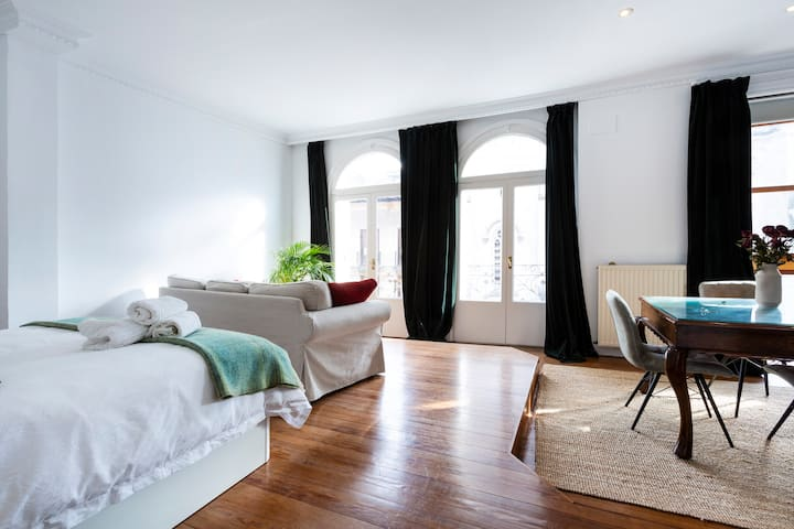 Luxury private suite apt 90 m2  Old Town Bilbao