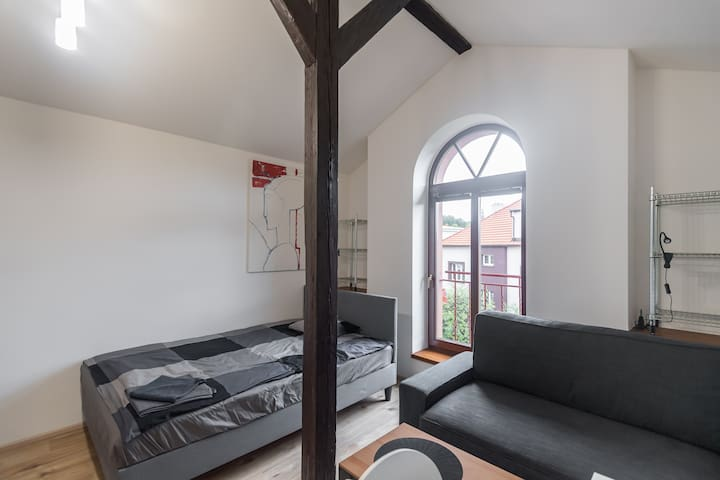 Cozy apartment by the metro station with parking