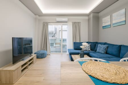 Elegant apartment, 5' from Piraeus Port (A4)