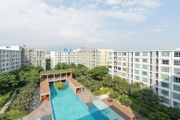 💯Wonderful View #2Beds2Bath#2卧2卫豪华公寓*无敌泳池景色💯