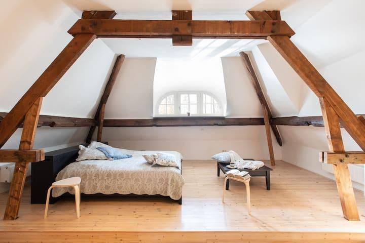 Loft bedroom double bed