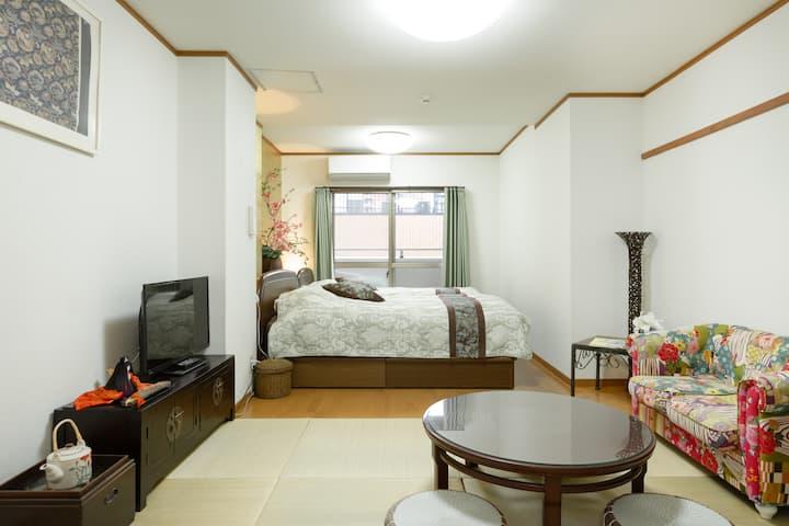 Centre of Kyoto city! Spacious room 3A
