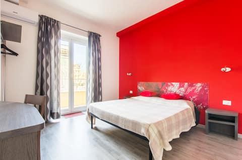 B&B di Paolo S. - Red room 3 - private bathroom.