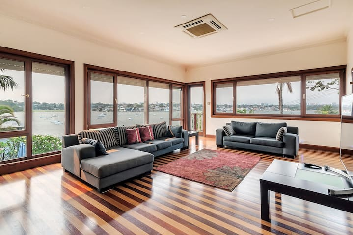 Luxury six bedroom waterfront home