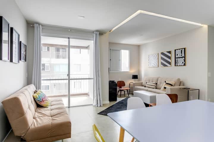 Apartamento novo e decorado no Centro, Bom Retiro