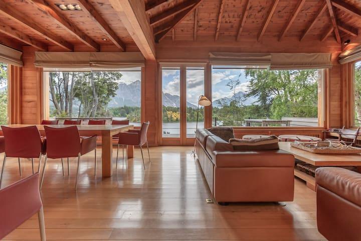 Lodge on the Lake overlooking Cerro tronador