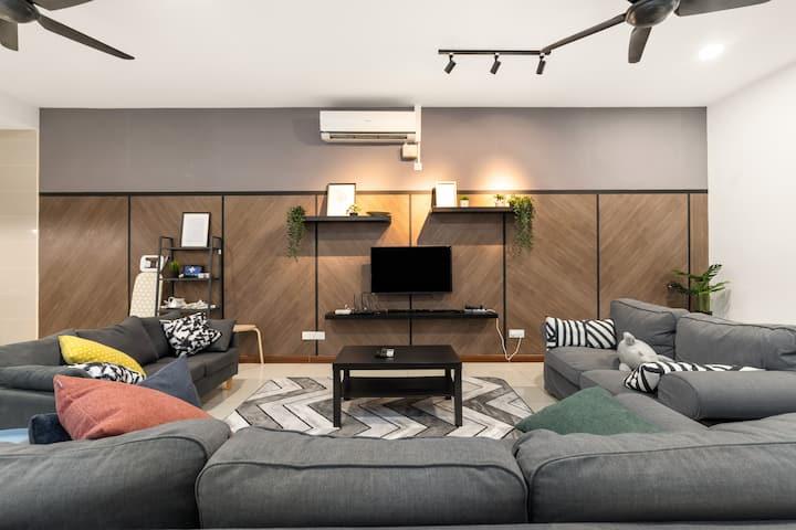 Setia Alam Comfy & Cozy House 3min SetiaCityMall