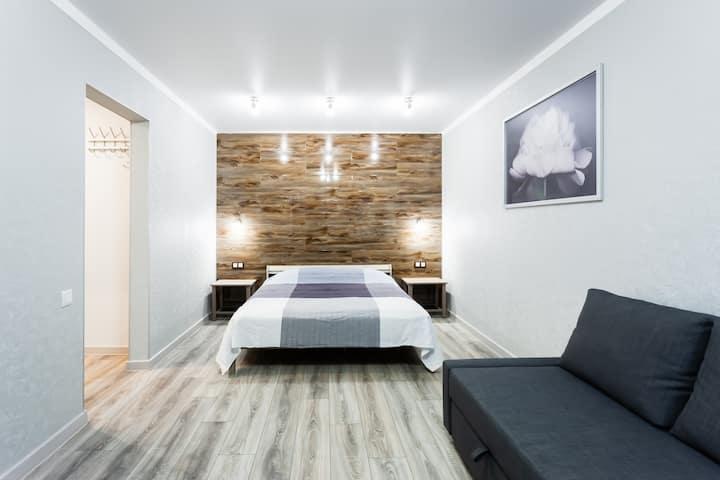 ЛАГОМ - светлая квартира в скандинавском стиле.