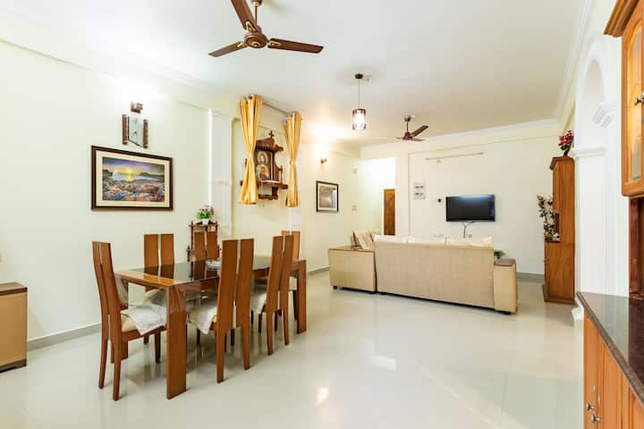 Fully Furnished 3 BHK A/c Apartment