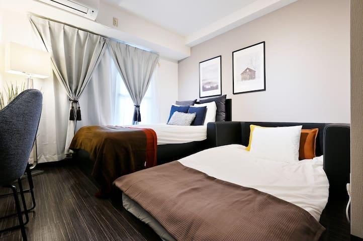 2เตียงกับโซฟาเบ็ด