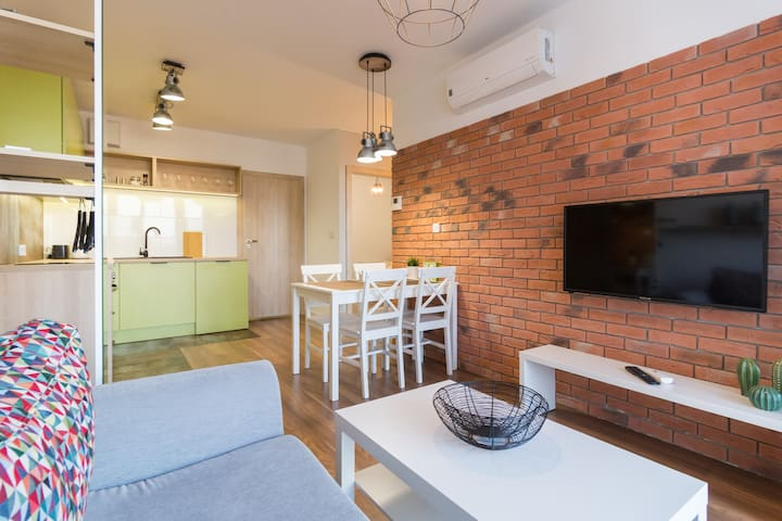 New Apartment two Bedrooms In Kazimierz Krakow