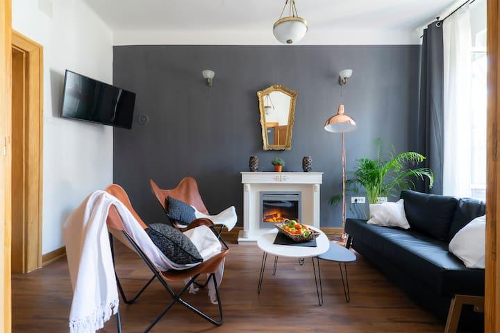 S&P Apartment | Fireplace | City View | Terrace