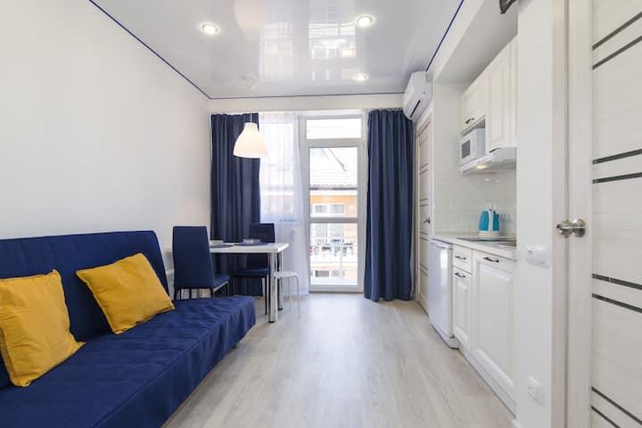 Deep Blue Apartment в центре Адлера у моря, 6 этаж