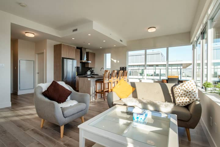 A high end new 2 bedrooms & 2 bathrooms penthouse