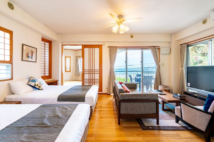 [Near Blue cave] 3F | Ocean Front room [Onna vlg]