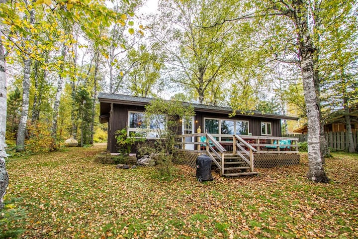 Birch Hollow is a cozy vacation rental home along the shores of Devil Track Lake in Grand Marais