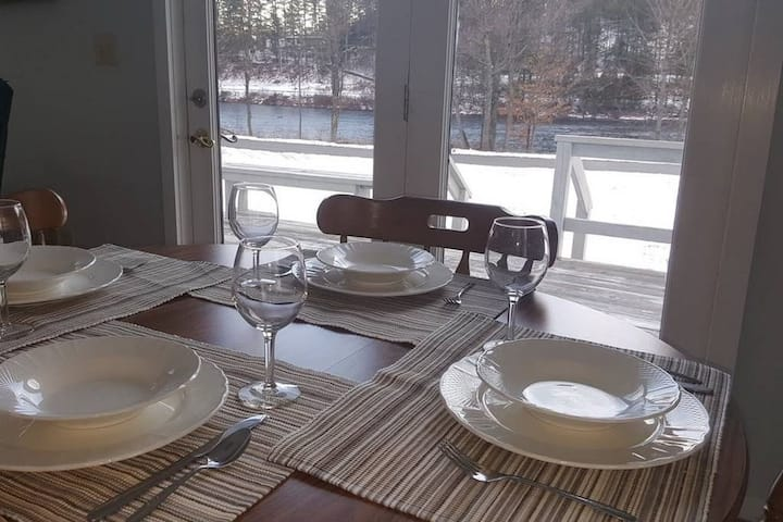 Home on the Hudson near Gore Mountain and North Creek with wi-fi and two baths