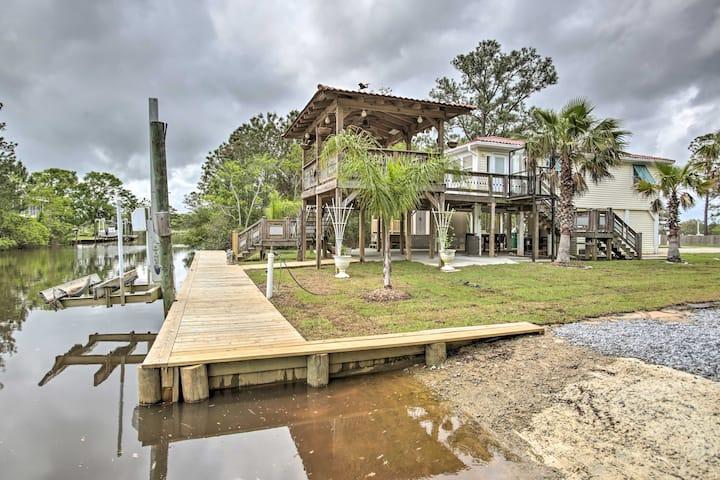 Bay St Louis House w/ Dock on Breath Bayou River!