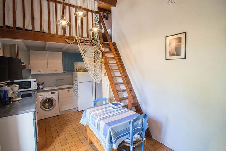 Au calme, Appartement CLASSE 2* avec jardinet-T3-24m²-4 pers. - MIMIZAN PLAGE