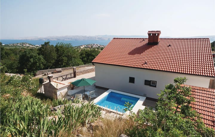 Awesome home in Cesarica with 1 Bedrooms
