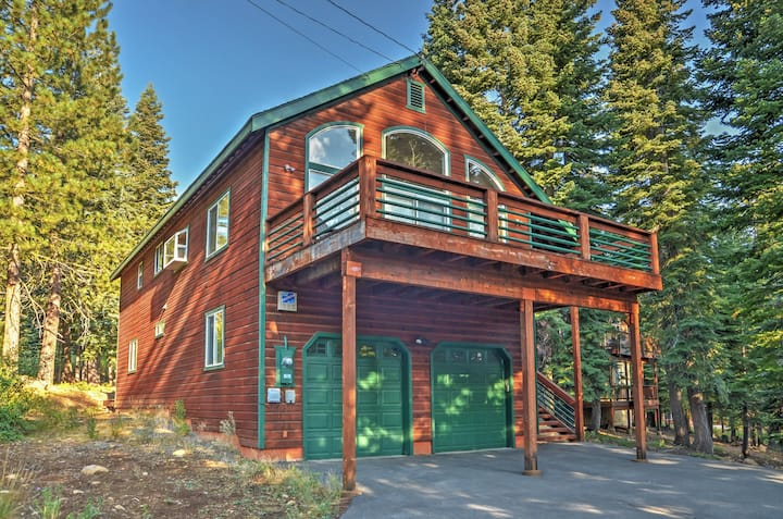 Cabin w/ Forest Views & Central Donner Location!
