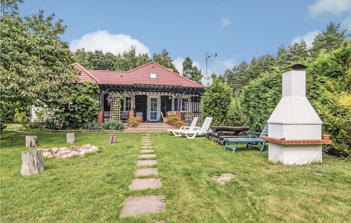 Awesome home in Karsko with Sauna and 3 Bedrooms