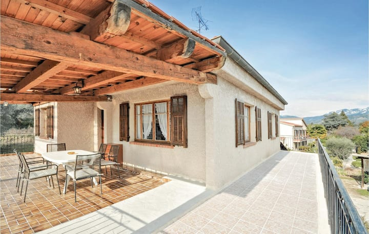 Nice home in Carros with WiFi and 3 Bedrooms