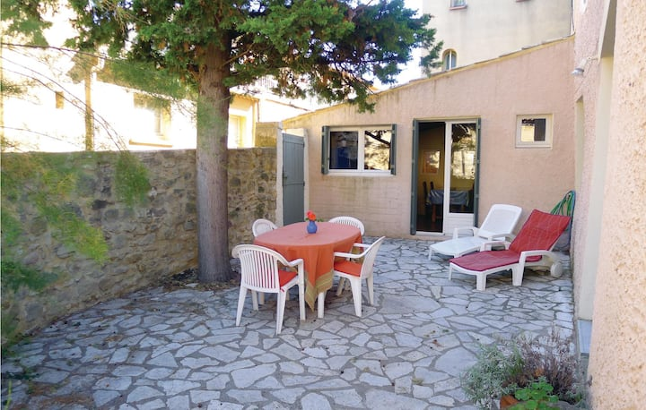 Nice home in St Quentin la Poterie with 1 Bedrooms