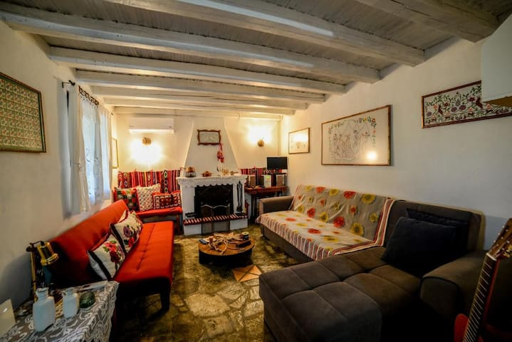 Enjoy cozy moments at the lounge area of the property near the fireplace