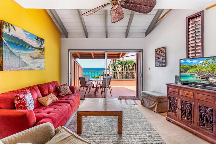 KUL207 - W Maui Oceanview, Spacious Remodeled Condo in Quiet Oceanfront Resor