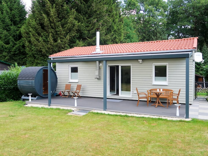 Cozy furnished holiday house with terrace and outdoor sauna
