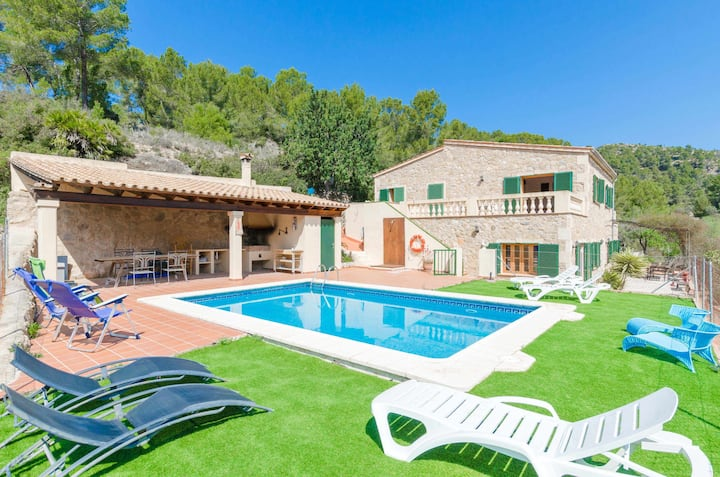 YourHouse CanPerxota - villa with private pool in the mountains in Sant Elm