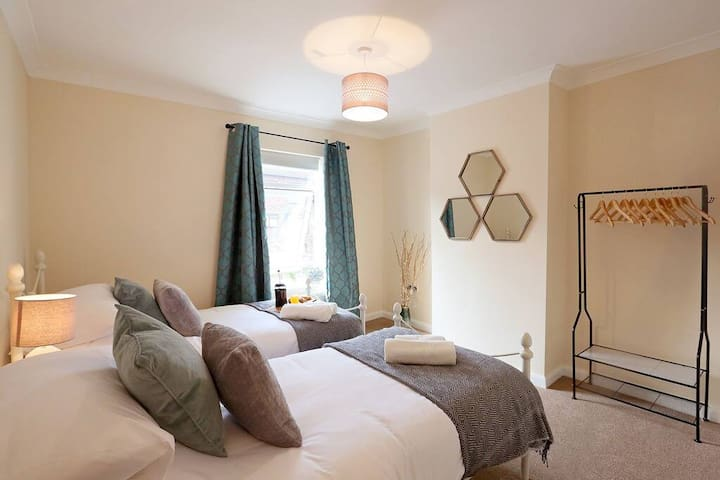 two single beds can be zipped together if prefer
