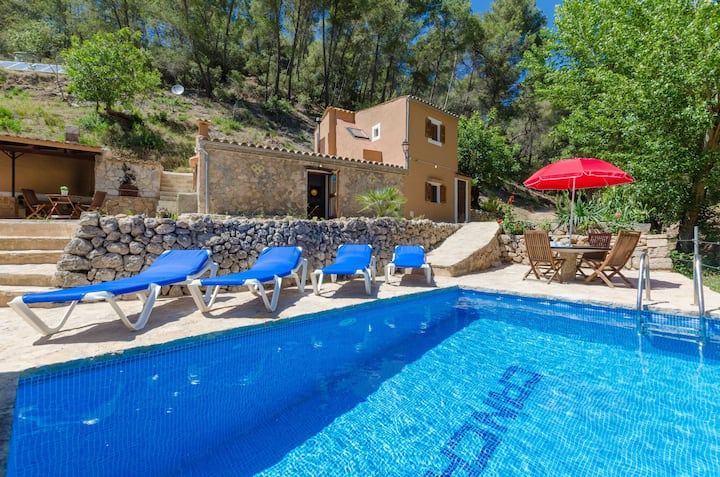 YourHouse Can Capet - house with pool for 4 guests in the Tramuntana
