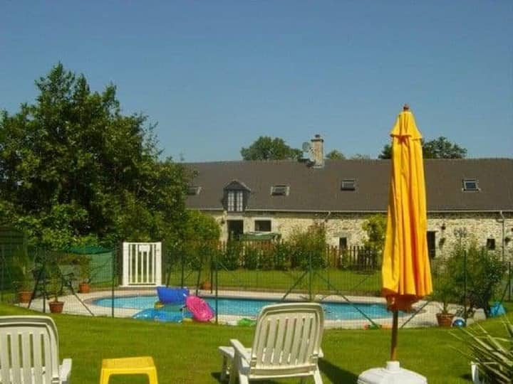 1 of 3 superb gites with pool in the Mayenne area.