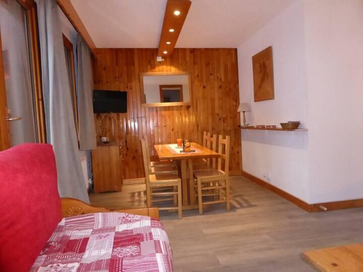 Valmorel, hameau de la Forêt, grand 2 pièces pour 5 personnes