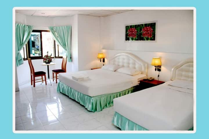 Welcome Inn Hotel @ Karon Beach. 3 bed room from only 1200 Baht