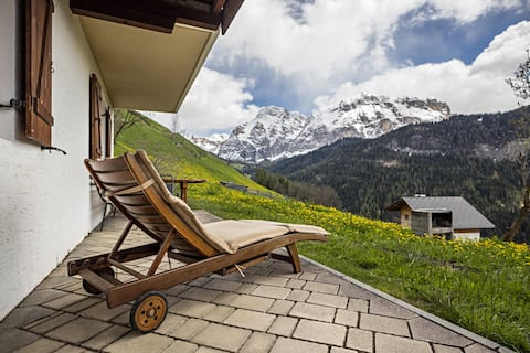 Idyllic Apartment Confolia 3 with Mountain View, Garden & Wi-Fi; Parking Available, Pets Allowed