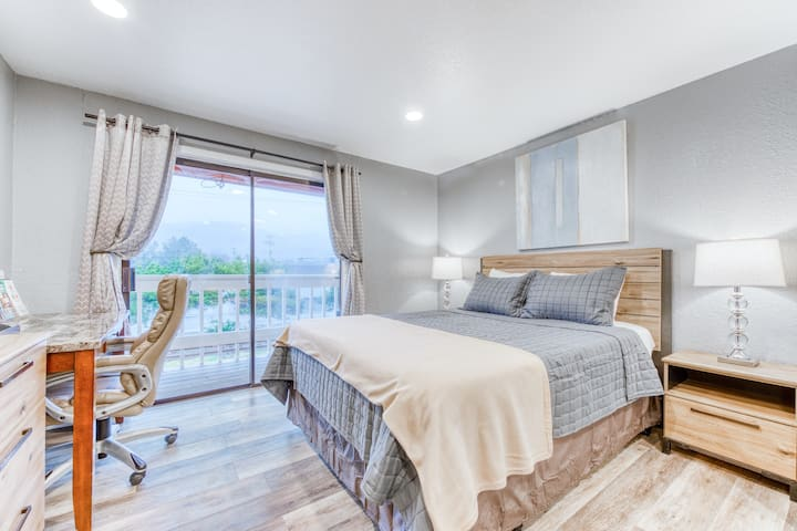 Classy dog-friendly studio w/ free WiFi and cable - walk to the beach!