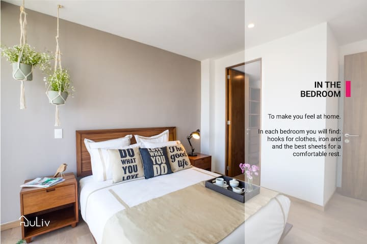 Main bedroom with private bathroom
