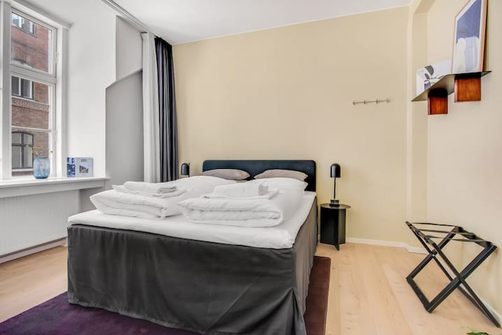 Comfortable and large double beds.