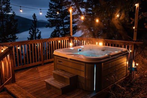 Modern Lake House w/ Hot Tub and Dock