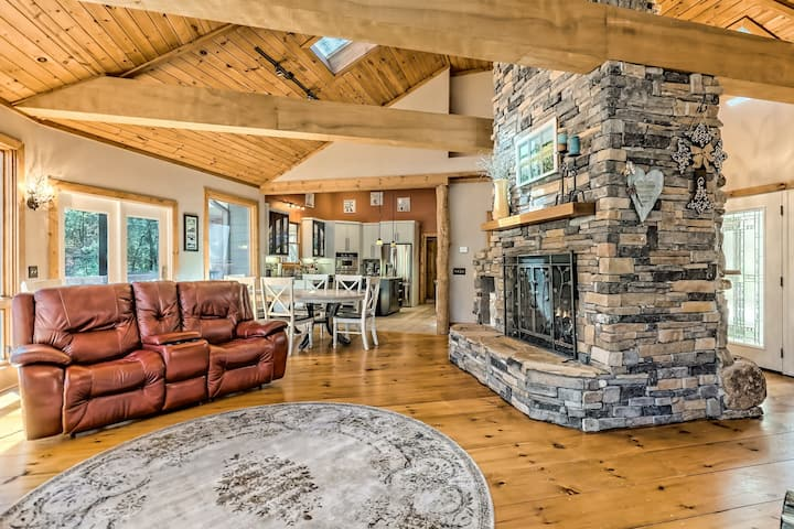 Family-friendly, Waterfront Home w/ Two Kitchens, Dry Sauna, & Private Hot Tub