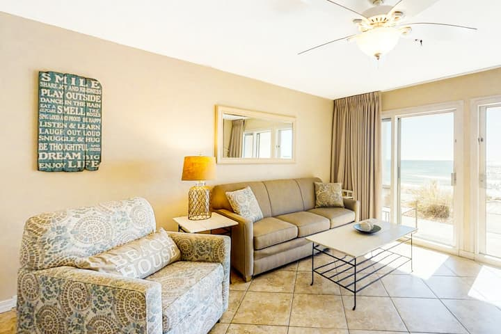 1st-Floor Condo w/ Gulf View, Grill, Pools, Beach Access, Near Shops and Dining!