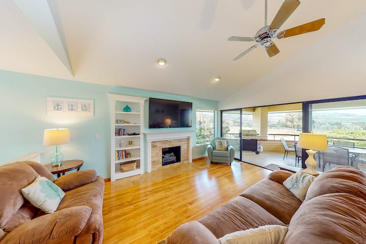 New listing! Inviting home near the lake w/ private hot tub, shared pool, & deck