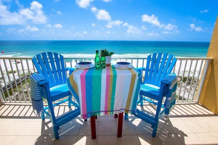 NEW! Gulf front & renovated!  Free Beach Service!