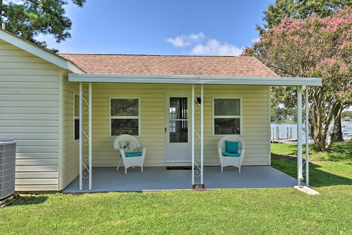 NEW! Romantic Waterfront Abode with Patio & Dock!