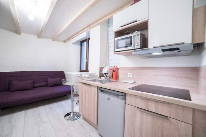 🎖 Le Veyrier - Small studio for 2 people in the heart of the old town